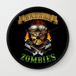 Badass Zombies Wall Clock