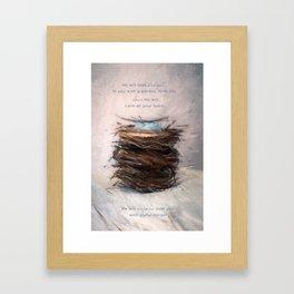 Bird Nest 4 Framed Art Print