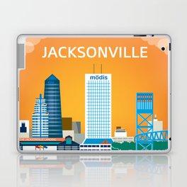 Jacksonville, Florida - Skyline Illustration by Loose Petals Laptop & iPad Skin