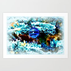 Blue Christmas Art Print