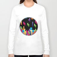 tetris Long Sleeve T-shirts featuring Tetris Troubles. by Digi Treats 2