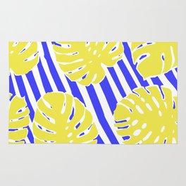 Monstera Leaf - Matisse Inspired Tropical Collage Pattern Rug