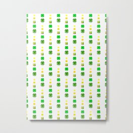 Clover Repeat - St Patrick's Day Pattern Metal Print