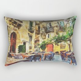 Vintage streets in Calabria Tropea Rectangular Pillow