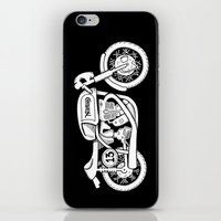 cafe racer iPhone & iPod Skins featuring Norton Model 30 - Cafe Racer series #2 by Daniel Feldt