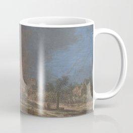 Brand in een dorp, Barbara Regina Dietzsch, Christoph Ludwig Agricola, 1716 - 1783 Coffee Mug