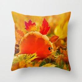 Autumn dino Throw Pillow