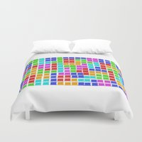 tetris Duvet Covers featuring Tetris by MarioGuti
