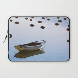Water mirror and a small boat Laptop Sleeve