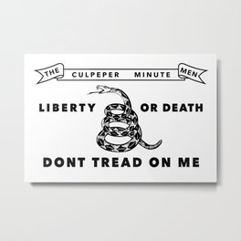 Culpeper Minutemen Flag - Authentic High Quality Metal Print