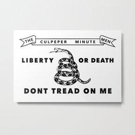 Culpeper Minutemen Flag - Authentic High Quality Metal Print