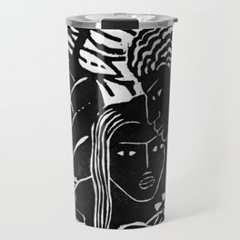 Couple Embracing - Vintage Block Print Travel Mug