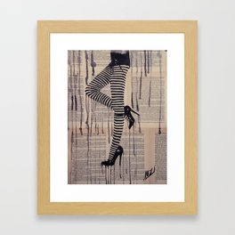 Strip trip Framed Art Print
