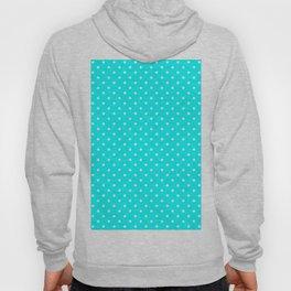 Dots (White/Aqua Cyan) Hoody