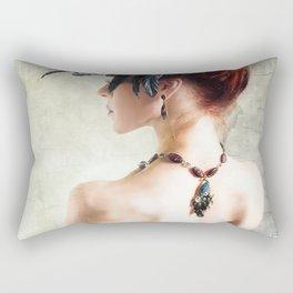 Madame Peacock Rectangular Pillow