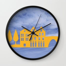 City in the Clouds Wall Clock