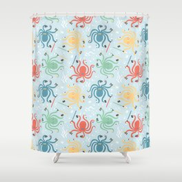 Nerdy Octopuses Shower Curtain