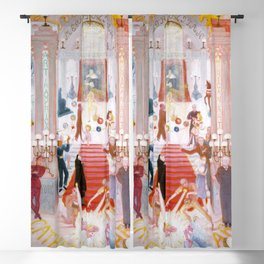 """Florine Stettheimer """"The Cathedrals of Art"""" Blackout Curtain"""