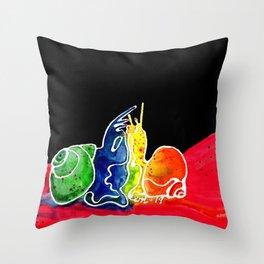 Snail Sex Throw Pillow
