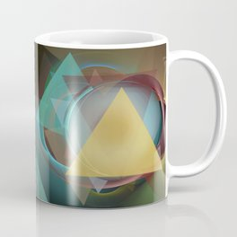 Modern colourful abstract with triangles Coffee Mug