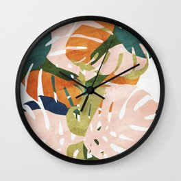 Monstera delight Wall Clock