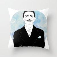 dali Throw Pillows featuring DALI by Adam Churcher