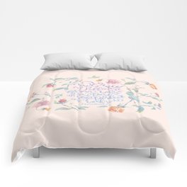 My Grace is Sufficient - 2 Corinthians 12:9 / rose pink Comforters