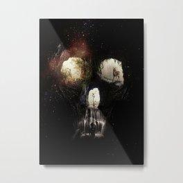 Cave Skull Metal Print