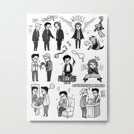 Supernatural Chibis C Metal Print