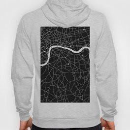 Black on White London Street Map II Hoody