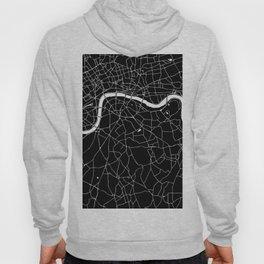Black on White London Street Map II Hoody