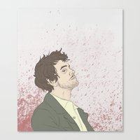 will graham Canvas Prints featuring Will Graham by karley denean
