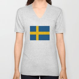 flag of sweden Unisex V-Neck