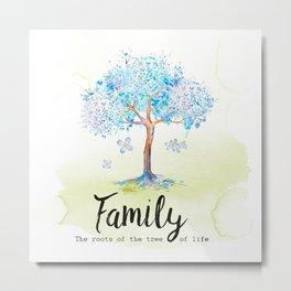 Family blue Metal Print