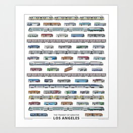 The Transit of Greater Los Angeles Art Print
