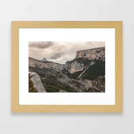 French Gorges in the winter Framed Art Print