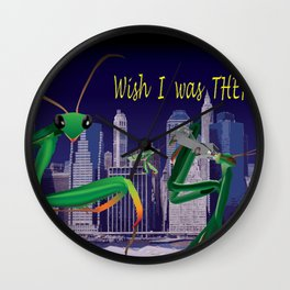 Wish I Was There Wall Clock