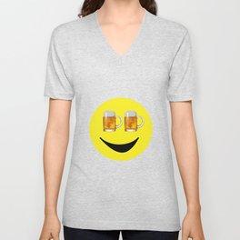 Happy Hour Face Unisex V-Neck