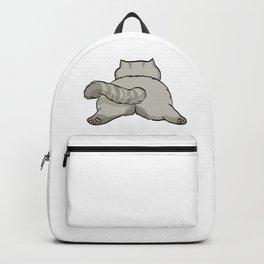 Grey Sleeping Cat Backpack