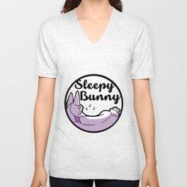 Sleepy Bunny Logo Unisex V-Neck