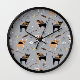 chihuahua witch wizard magical dog breed gifts Wall Clock