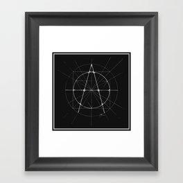 XXIst Century Anarchy Monochrome Framed Art Print