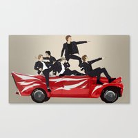 "grease Canvas Prints featuring ""Why it's grease lightning"" by Karu Kara"