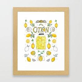 Citron Framed Art Print