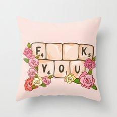 F **U  YOU Throw Pillow