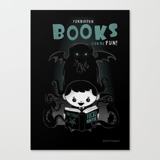 Forbidden books can be fun! Canvas Print