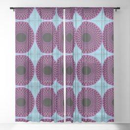 African Ankara Wax Print 30 Sheer Curtain