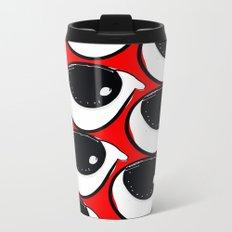 Morning coffee pattern graphic design Metal Travel Mug