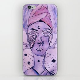 The King of The Purple Galaxy iPhone Skin