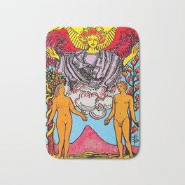 The Lovers Tarot Card Bath Mat